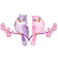Love Birds Clip Art | Love Birds Cartoon Animal Clip Art