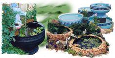 Step By Step Diy Wonderful Tire Garden Ponds On A Budget Inspirations No 66 Tire Pond, Tire Garden, Diy Garden Fountains, Diy Fountain, Pond Fountains, Ponds Backyard, Backyard Patio, Garden Ponds, Diy Planters