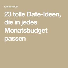 23 tolle Date-Ideen, die in jedes Monatsbudget passen