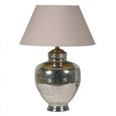Silver Table Lamp Cream Shade£143.75