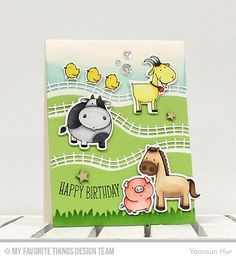 Cards made from MFT The Whole Herd stamp set - Google Search