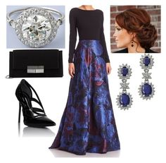 """""""Official Visit to Northern Ireland and the Republic of Ireland: Attending a Dinner at Belfast City Hall, requested by Anonymous."""" by thecrownoutfits ❤ liked on Polyvore featuring Theia, Effy Jewelry, J. Mendel and Balenciaga"""