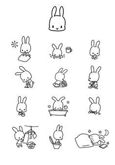 Kawaii Faces, Cute Kawaii Drawings, Cartoon Characters Sketch, Cartoon Art, Simple Doodles, Cute Doodles, Japanese Drawings, Easy Drawings, Stick Figure Drawing