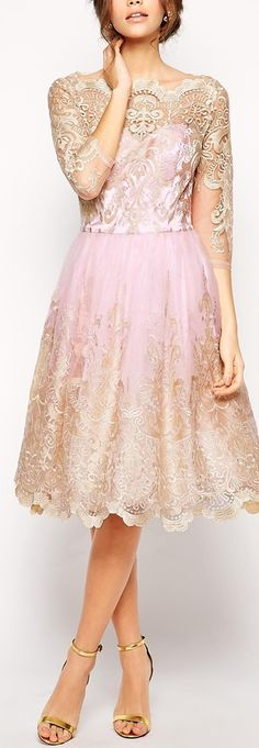 Not sure I like this shade of pink but everything else about the dress is VERY Pretty