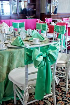 Nothing says fun party like Baja Mint and Garden Fuchsia :)