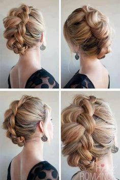 Belle coiffure tressée Updo: The Braid-Hawk - All things hair - Lovely Braided Updo Hairstyle: . Braided Hairstyles Updo, Braided Updo, Latest Hairstyles, Pretty Hairstyles, Updo Hairstyle, Braid Hair, Mohawk Braid Updo, Wedding Hairstyles, Crown Braids