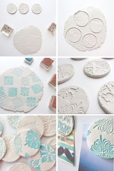 Stamped Clay Magnets