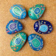 Pensando en la vacación  #pez #pescado #peces #pececitos #fish #playa #beach #mar #sea #ocean #blue #piedra #arte #art #hechoamano #hechopormexicanos #mexicocreativo