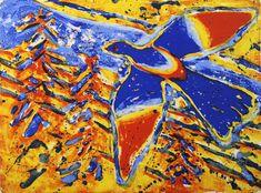 Frans Widerberg - Fugl gul, kunst til salgs i nettgalleriet