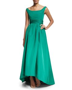 Designer Green Gown for MOB