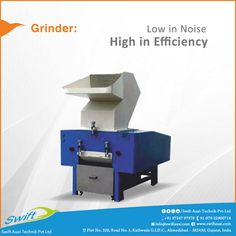 Swift Auxi Technik manufactures Grinder and Granulator which is makes low noise and gives more efficiency in operational performance.  #SwiftAuxiTechnikPvtLtd