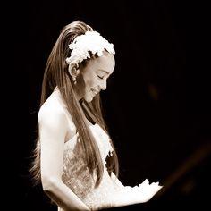 Asian Beauty, One Shoulder Wedding Dress, Longer Hair, Singer, Long Hair Styles, Celebrities, Wedding Dresses, Cute, Japan
