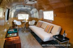 airstream interior photos | New Airstream Lounge and Bar is a Big Hit with Corporate Event ...