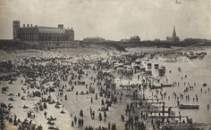 Bathing machines at Long Sands - Tynemouth