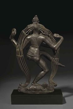 A RARE AND HIGHLY IMPORTANT BRONZE FIGURE OF SHIVA GANGADHARA NATARAJA , SOUTH INDIA, TAMIL NADU, CHOLA PERIOD, 9TH CENTURY  | Christie's