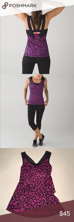 NWT Lululemon Super Sport Tank Sz 2 Brand New Lululemon Super Sport Tank. Purple Cheetah Print. Sz 2. Original Price: $64. Picture 1+2 is only for model reference, not the actual product. Feel free to contact me for more pictures or questions. lululemon athletica Tops Tank Tops