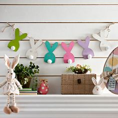 Multicolor Easter Bunny Banner | Kirklands