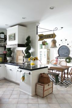 Eclectic Home Tour Circa34 - Love this charming cottage kitchen eclecticallyvintage.com