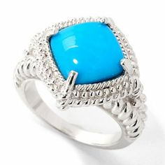 Gem Insider Sterling Silver 10mm Sleeping Beauty Turquoise Textured Ring