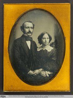 Beckers, Alexander, Bildnis eines Ehepaares, koloriert, Metallplatte, Vereinigte Staaten (Foto: © Rheinisches Bildarchiv Köln, rba_d036300)