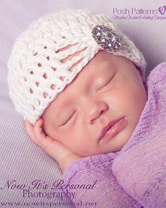Crochet PATTERN - Fancy Crochet Baby Beanie Crochet Hat Pattern - Instant Download PDF 240 - Newborn to Adult - Photography Prop Pattern