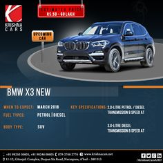 The all new car BMW X3 is all set to roll on the wheels with new features and high efficient mechanism for an excellent performance. Stay updated with Krishna Cars for more updates.