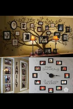 7 All Time Best Cool Ideas: Forest Pop Wall Decor classic metal wall decor.Artificial Plant Wall Decor benzara metal wall decor with flowers loaded twig. Display Family Photos, Family Pics, Family Tree With Pictures, Big Family, Friends Family, Deco Nature, Diy Casa, Family Tree Wall, Family Clock