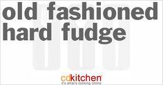 A 5-star recipe for Old Fashioned Hard Fudge made with sugar, cocoa powder, salt, milk, butter or margarine, vanilla