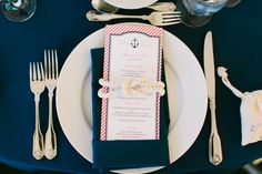 Navy and Pink Striped Nautical Meu Cards | Zazzle | Basic Invite | B Hull Photography https://www.theknot.com/marketplace/b-hull-photography-yonkers-ny-549319 | Hibernian Hall – Charleston, South Carolina |