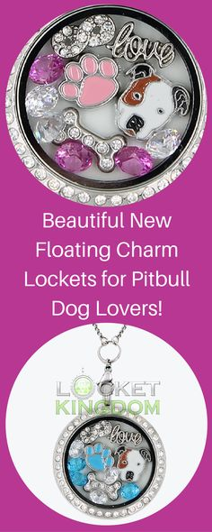 Beautiful New Charm Locket for Pitbull Dog Lovers!  Available in multiple colors.  Get yours before their gone!