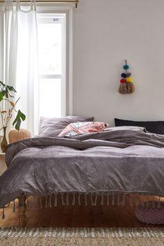 Skye Velvet Duvet Cover | Urban Outfitters Duvet Covers Urban Outfitters, Velvet Duvet, Cotton Sheets, Duvet Insert, Slipcovers, Comforters, Master Bedroom, Furniture, Design