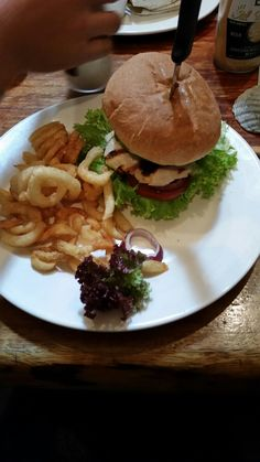 The hogs breath Napier . Chicken burger & curly fries 7/10