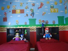cuarto de mario bros parte de la pared.   by WanDa LiZ RodRiguEz RioS