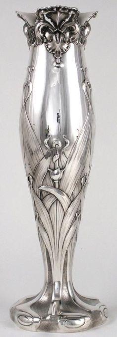 Theodore B. Starr sterling Art Nouveau vase ~ 1900 by grignjr