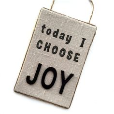 Today I choose JOY Sign - Linen Choose Joy Sign - Choose Joy Wall Decor - Choose Joy Wall Hanging - Positive Affirmation Sign - Fiber Art Joy Sign, Choose Joy, Gifts For Wife, Positive Affirmations, My Etsy Shop, Wall Decor, Positivity, Signs, Unique Jewelry
