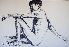 """Detainee"" Oil on Canvas  1.35m X 91cm (SOLD - van Kampen)"
