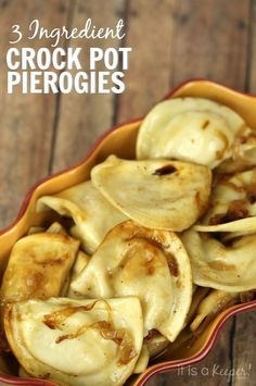 These Crock Pot Pierogies use only 3 ingredients and are one of the best (and easiest!) slow cooker recipes.