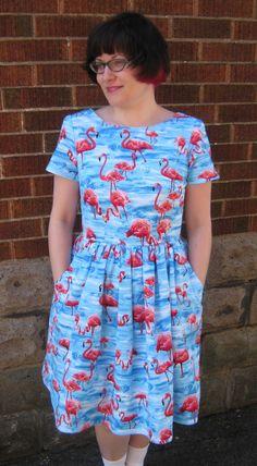 Emery dress +  Simplicity pockets.  Made for Sew Dolly Clackett (2014) #sewdollyclackett