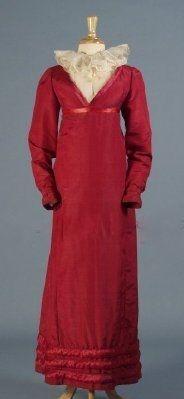 Dress 1810, American, Made of silk