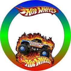 Making My Party!: Hot Wheels - Complete Kit with frames for invitations, labels for goodies, souvenirs and pictures!