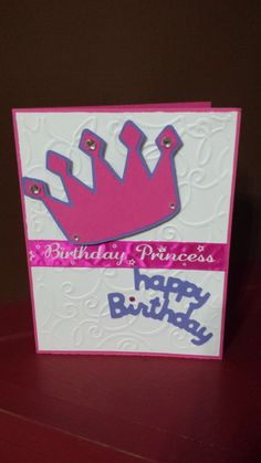 Princess Crown Handmade Greeting Card Happy by jennrainescreations