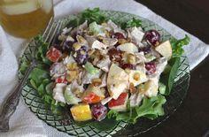 Roast Chicken Waldorf Salad   use Veganaise and pecans instead