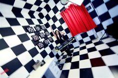 Black & White room in X Hostel Bucharest where 3 music video clips where shot