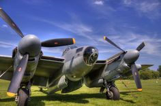 RCAF de Havilland Mosquito Fighter Bomber in HDR. Photo taken behind the EAA museum in Oshkosh, Wisconsin during AirVenture 2010.