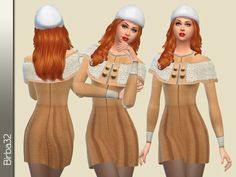 Camel Coat by Birba32 at TSR via Sims 4 Updates