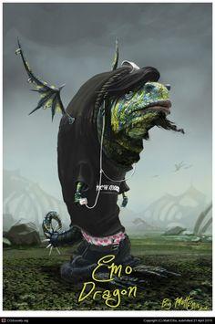 Emo Dragon by Matt Ellis