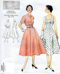 Vogue Vintage Model Original 1954 Design Pattern by AllThingsVogue, $15.00