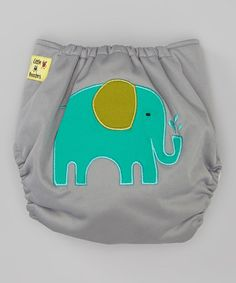 Another great find on #zulily! Gray Elephant Pocket Diaper by Little Monsters #zulilyfinds