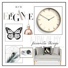 """New Elegance"" by doragutierrez ❤ liked on Polyvore featuring interior, interiors, interior design, home, home decor, interior decorating, Art Addiction, Newgate, Safavieh and Jonathan Adler"