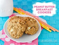 Peanut Butter Breakfast Cookies by Love From The Oven